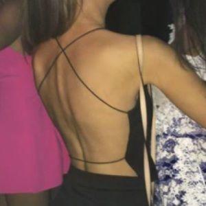 Criss cross open back top